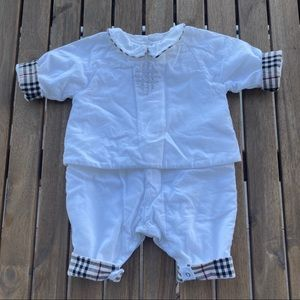 Rompers Babygrow 1 month Burberry white
